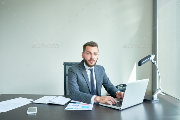 Portrait of Confident Manager - Stock Photo - Images