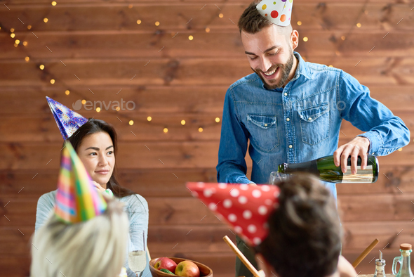 Dinner at Birthday Party - Stock Photo - Images
