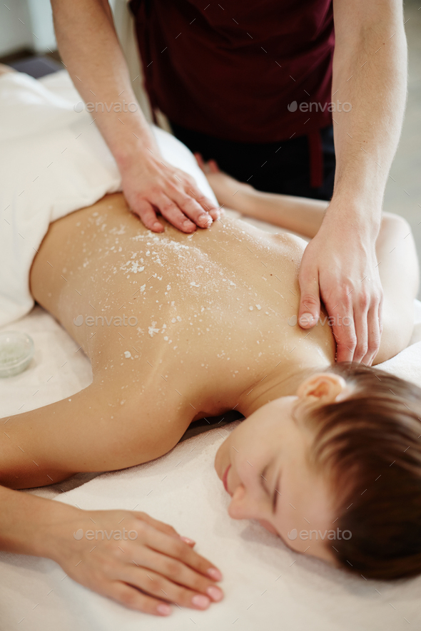 Relaxing Massage in SPA - Stock Photo - Images