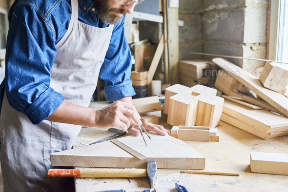 Traditional Woodworking Shop - Stock Photo - Images
