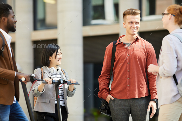 Multi-Ethnic Group of Students in College Campus - Stock Photo - Images