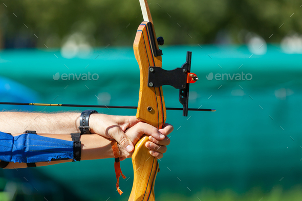 Outdoor archery lesson. - Stock Photo - Images