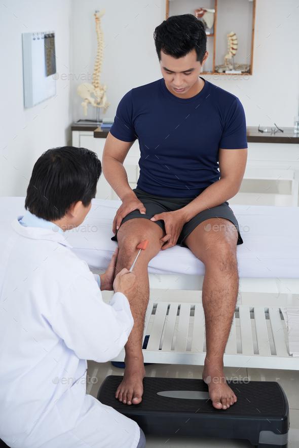 Checking nerve reflex - Stock Photo - Images