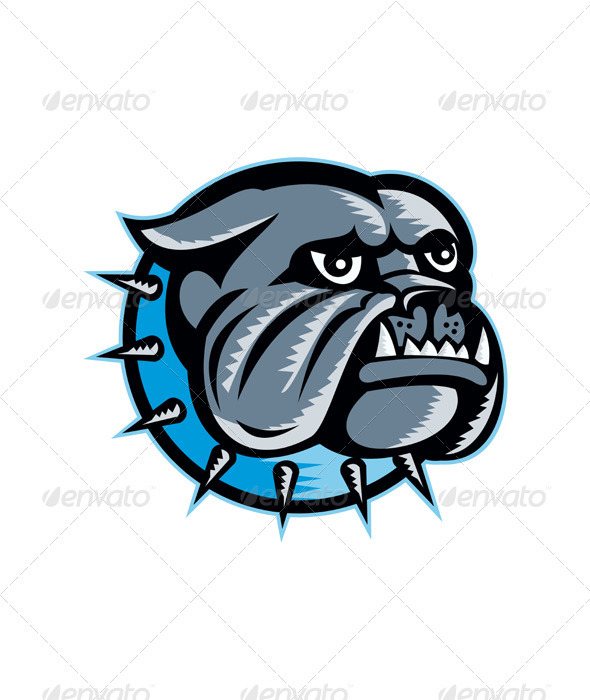 Bulldog Dog Head Mascot - Animals Characters