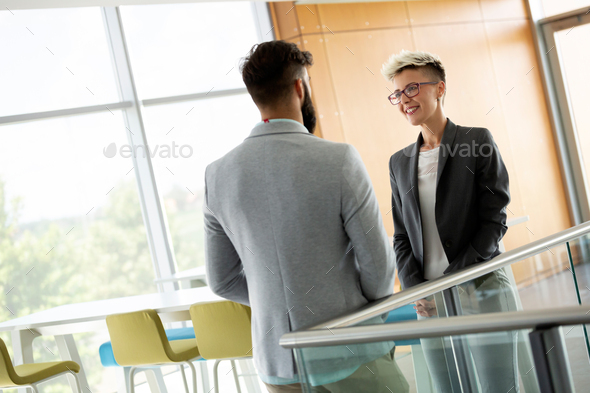 Business people having fun in modern office - Stock Photo - Images