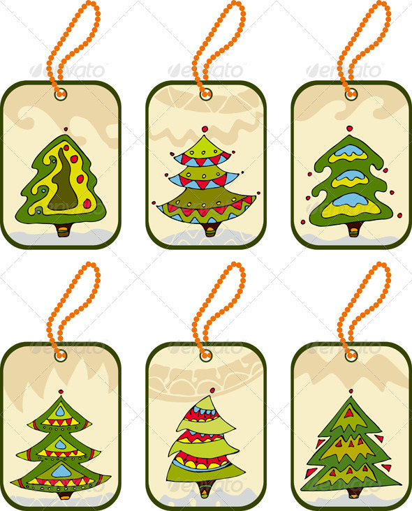Firtree Label Set - Christmas Seasons/Holidays