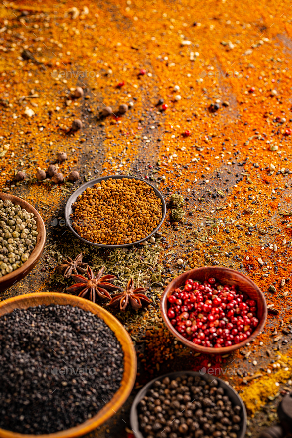 Composition of condiments - Stock Photo - Images