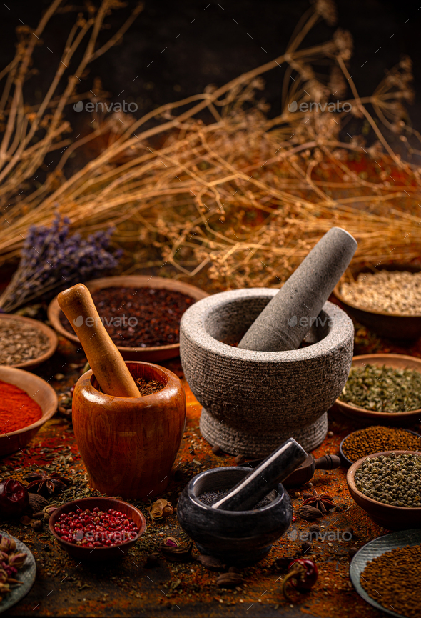 Set of various spices - Stock Photo - Images