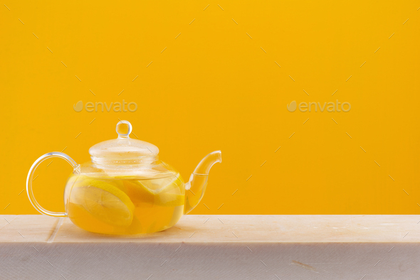 Healthy Warming Beverage with Lemon, Ginger Root and Honey - Stock Photo - Images