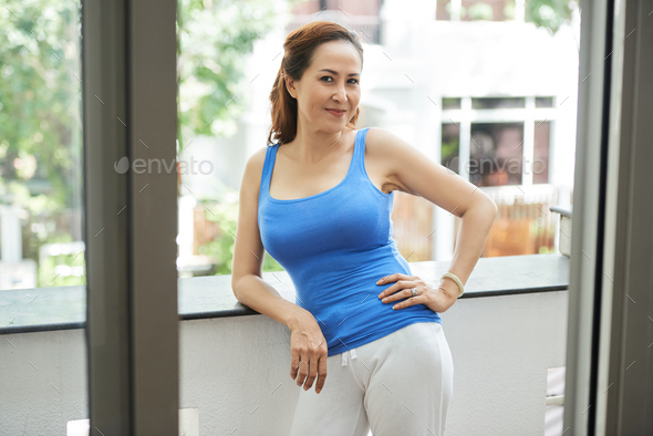 Sporty mature woman - Stock Photo - Images