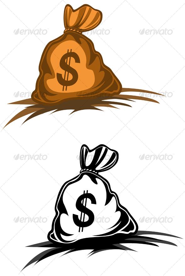 Money bag - Decorative Vectors