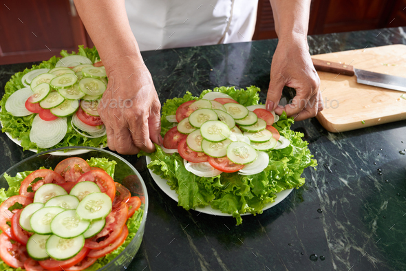 Housewife preparing food - Stock Photo - Images