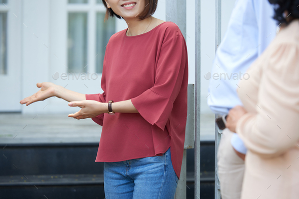 Real estate agent with clients - Stock Photo - Images
