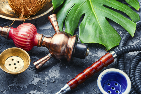 Cooking smoking hookah - Stock Photo - Images