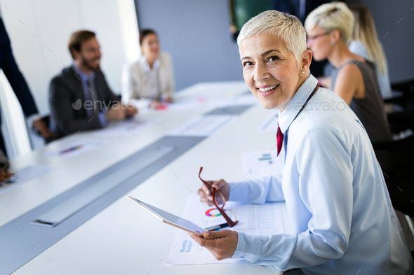 Meeting Corporate Success Business Brainstorming Teamwork Concept - Stock Photo - Images