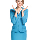 Portrait Of Charming Stewardess Wearing In Blue Uniform. - PhotoDune Item for Sale