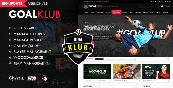 Goal Club | Sports & Events WordPress Theme