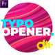 Dynamic Typography Opener Essential Graphics - VideoHive Item for Sale