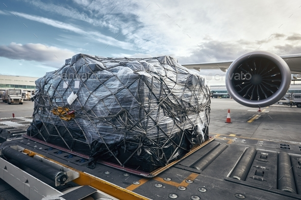 Loading of cargo container - Stock Photo - Images
