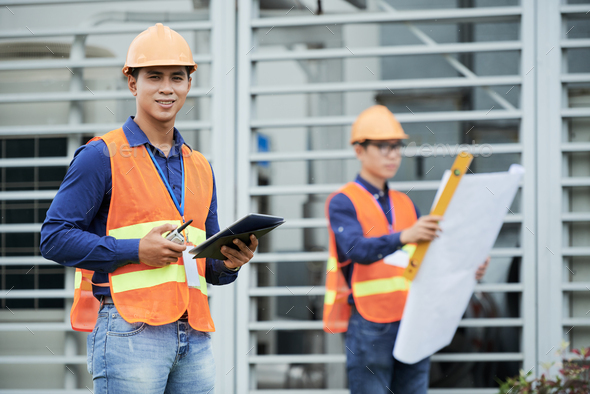 Supervisor at construction site - Stock Photo - Images