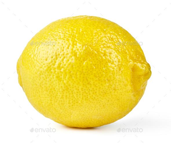 Lemon on white - Stock Photo - Images