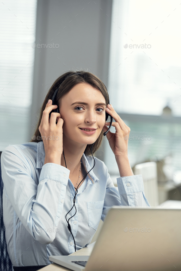 Business lady working in office - Stock Photo - Images