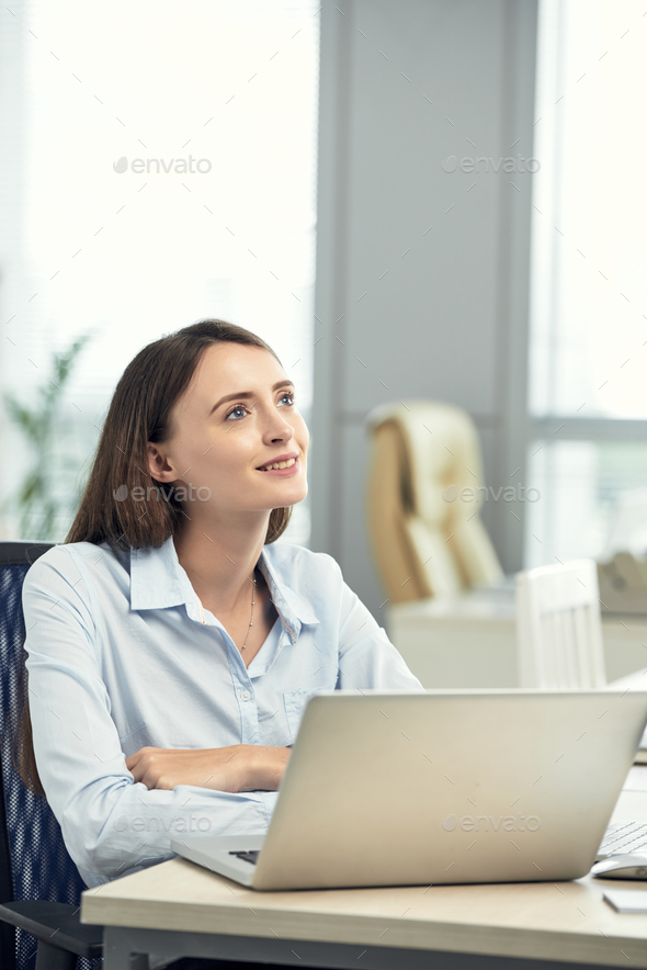 Dreamy business lady - Stock Photo - Images
