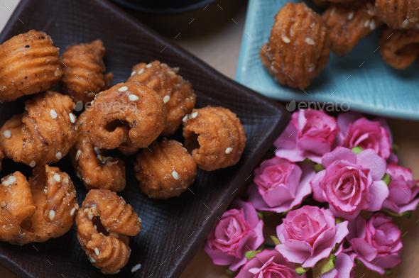 The caramelized crispy gnocchi - Stock Photo - Images