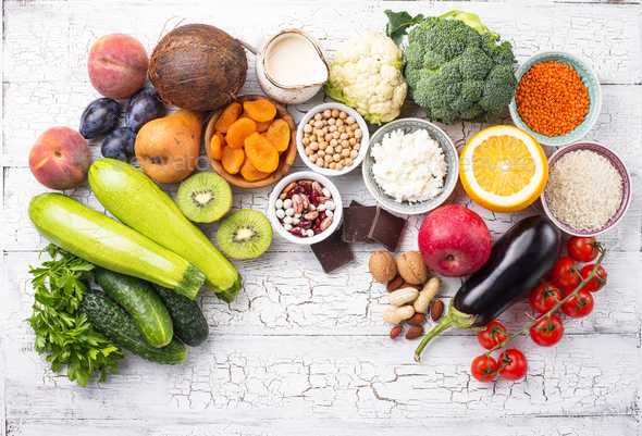 Products with low glycemic index - Stock Photo - Images