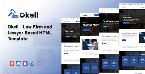Okell - Law Firm and Lawyer Based HTML Template by Theme-Hurst