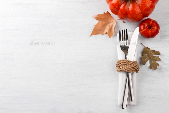 Autumn table setting - Stock Photo - Images