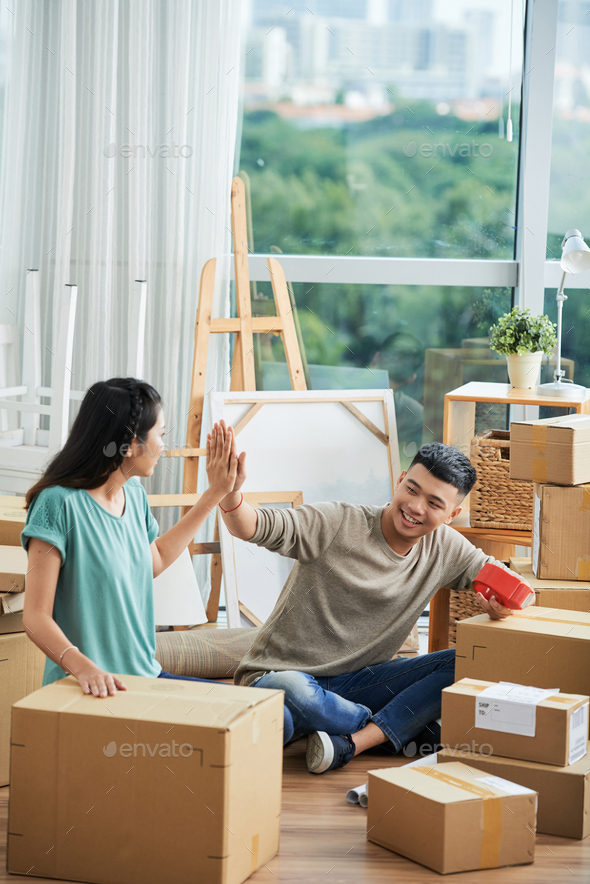 Packing couple - Stock Photo - Images