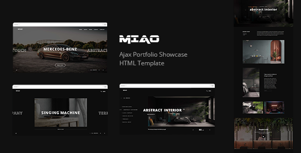 Miao - Ajax Portfolio Showcase HTML Template by design_grid