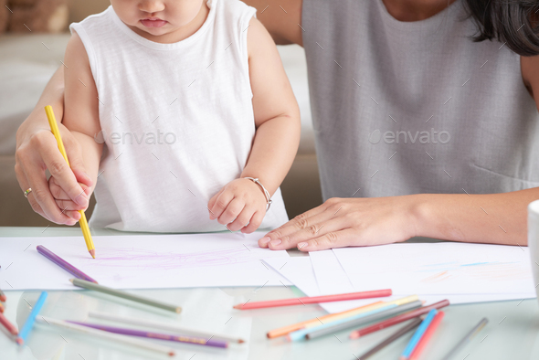Drawing kid - Stock Photo - Images
