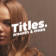 Smooth Clean Titles | Premiere Pro - VideoHive Item for Sale