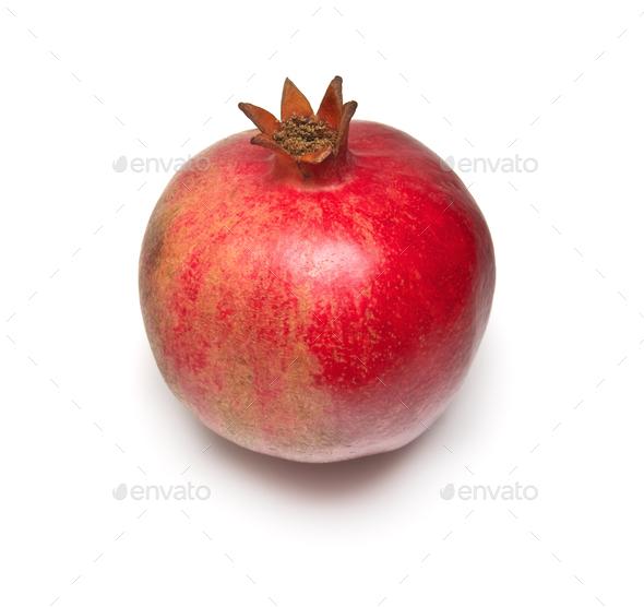 Pomegranade isolated on white - Stock Photo - Images