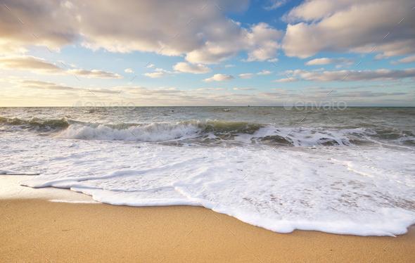 Beautiful wave seascape. - Stock Photo - Images