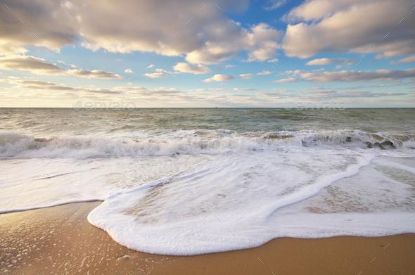 Beautiful wave seascape - Stock Photo - Images