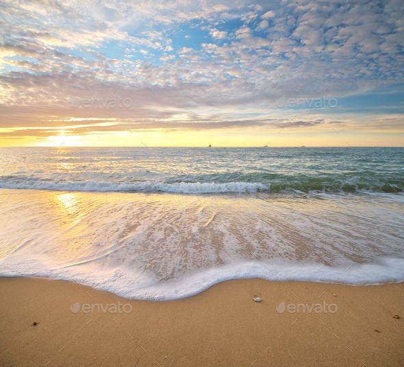 Pamorama of beautiful seascape - Stock Photo - Images