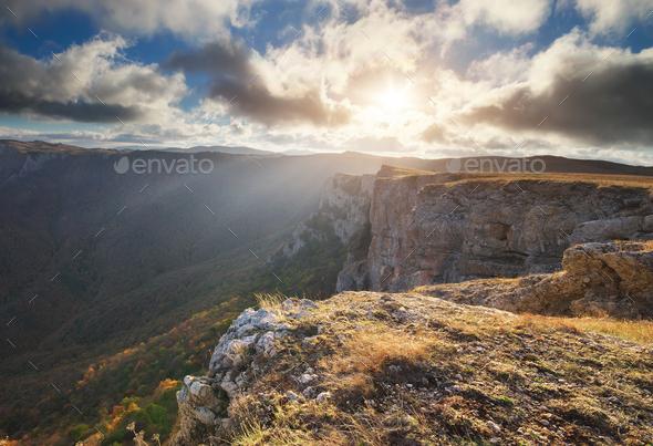 Mountain autumn nature landscape. - Stock Photo - Images