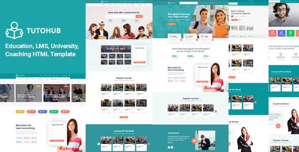 Tutohub - LMS Education HTML Template by RaisTheme