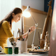 Creative woman painting on canvas in the studio - PhotoDune Item for Sale
