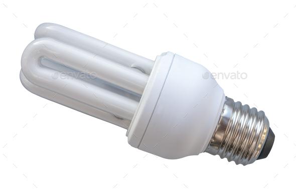 Isolated Energy Saving Bulb - Stock Photo - Images