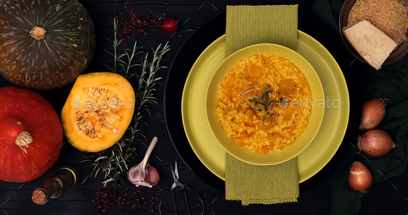 Risotto with squash - Stock Photo - Images