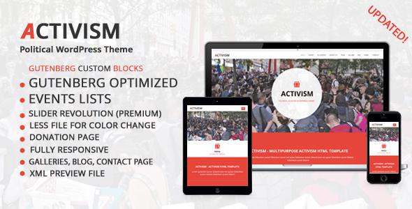 Activism - Political WordPress Theme