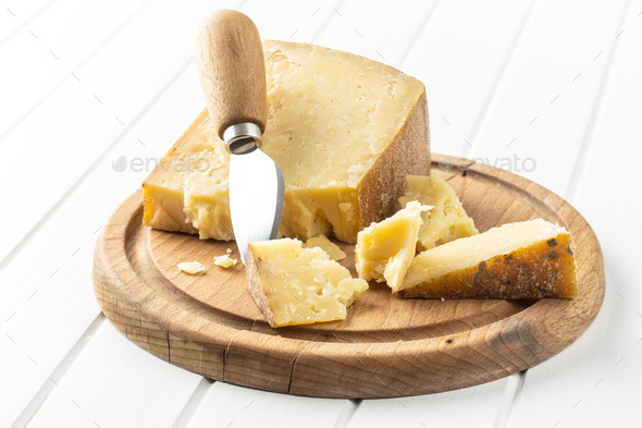 Crushed block of cheese - Stock Photo - Images