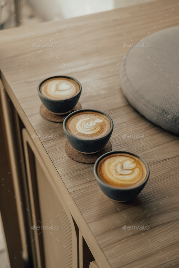 choose between these 3 coffee - Stock Photo - Images