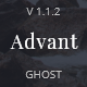 Free Download Advant - Modern Ghost Theme for Personal or Professional Blog Nulled