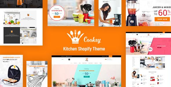 Cooksy - Kitchen, Utensils Shopify Store