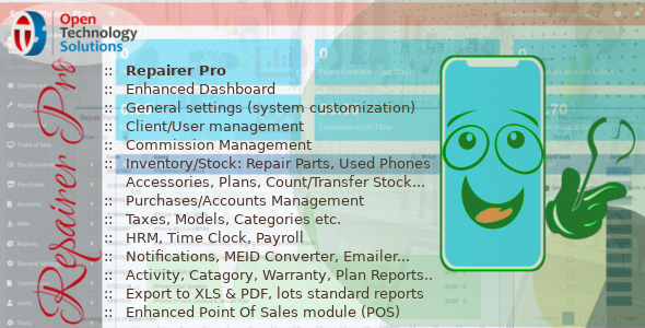 Repairer Pro - Repairs, HRM, CRM & much more